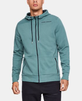 Men's UA Pursuit Microthread Full Zip Hoodie  4  Colors Available $80