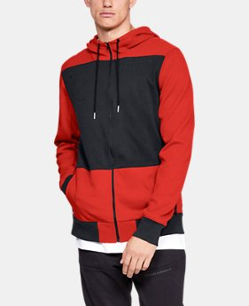 Men's UA Pursuit Microthread Full Zip Hoodie  1  Color Available $100