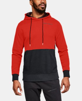 New Arrival Men's UA Pursuit Microthread Pullover Hoodie  1  Color Available $70