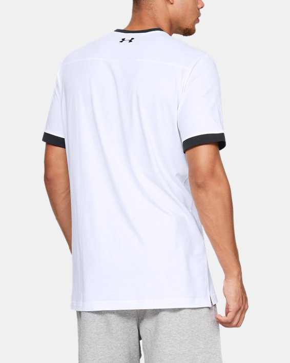 Men's UA Pursuit Beat The Block T-Shirt, White, pdpMainDesktop image number 2