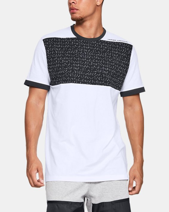 Men's UA Pursuit Beat The Block T-Shirt, White, pdpMainDesktop image number 0