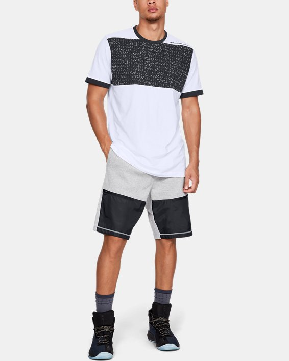 Men's UA Pursuit Beat The Block T-Shirt, White, pdpMainDesktop image number 1
