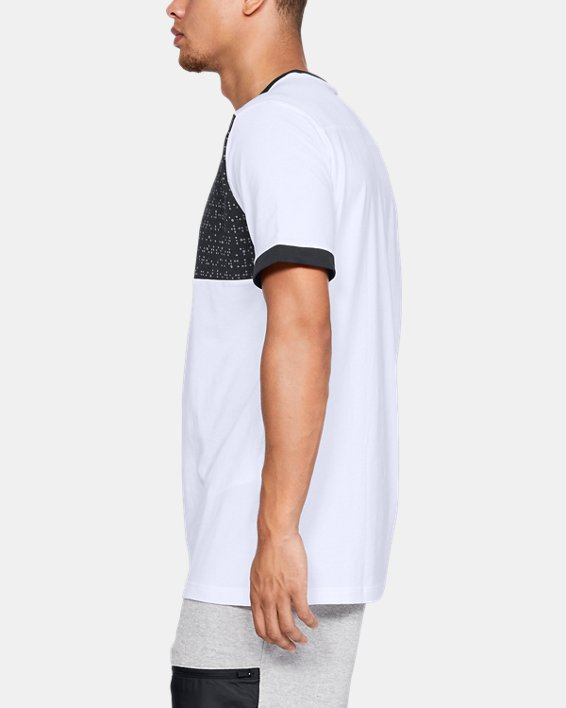 Men's UA Pursuit Beat The Block T-Shirt, White, pdpMainDesktop image number 3