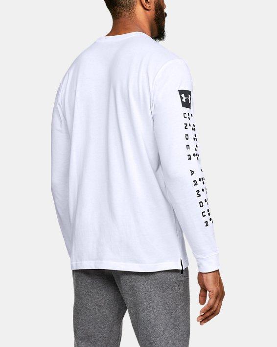 Men's UA Pursuit Long Sleeve, White, pdpMainDesktop image number 2