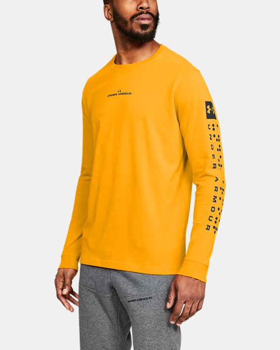 Men's UA Pursuit Long Sleeve, Orange, pdpMainDesktop image number 0