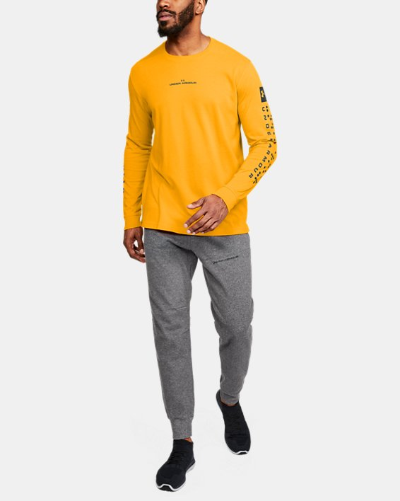 Men's UA Pursuit Long Sleeve, Orange, pdpMainDesktop image number 1