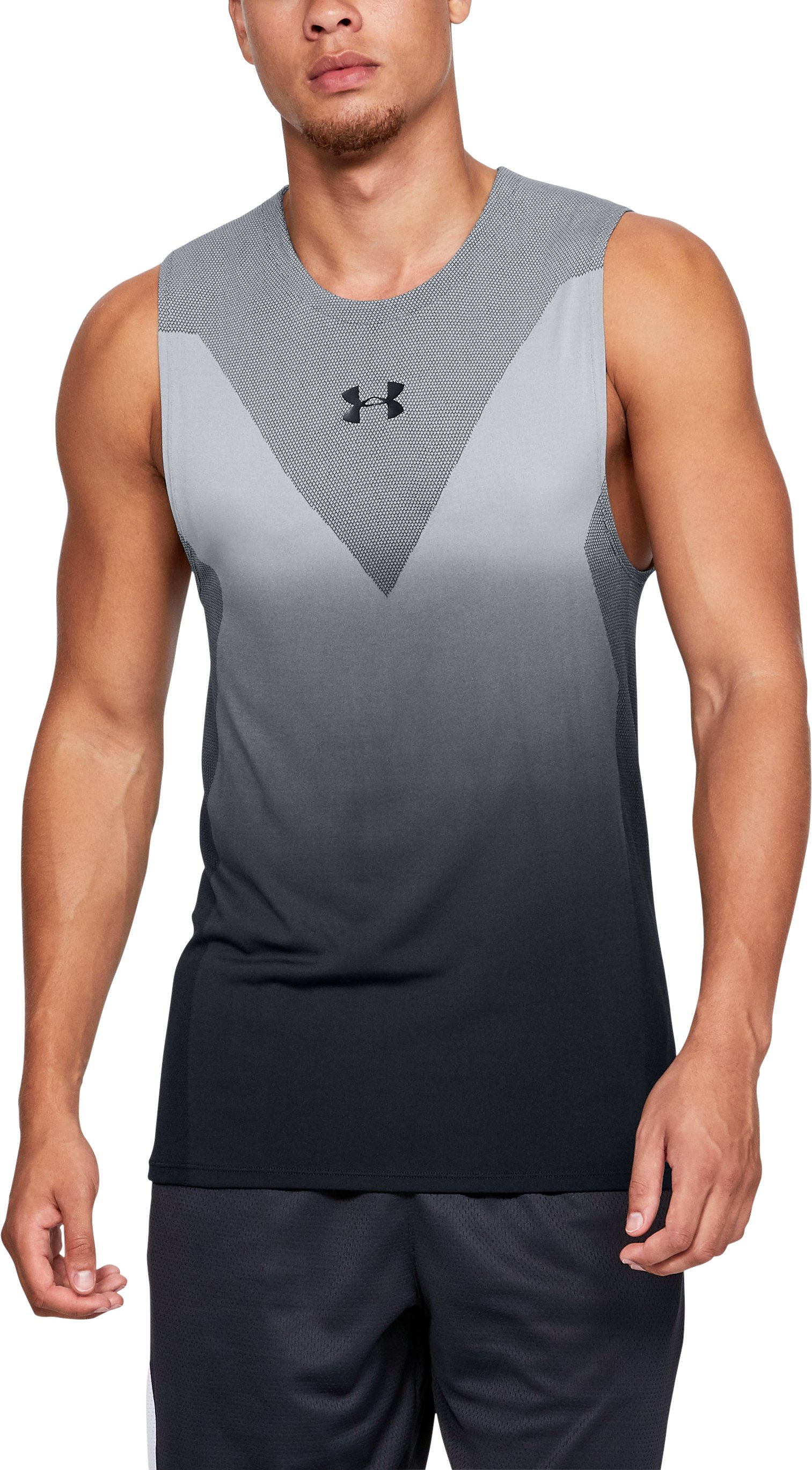Men's SC30 Seamless Tank, Black ,
