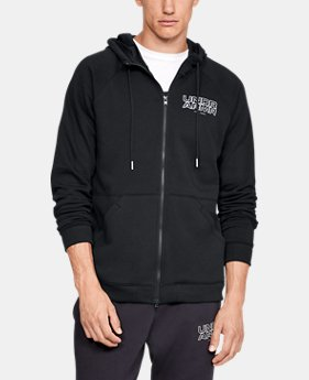 New Arrival  Men's UA Baseline Fleece Full Zip Hoodie  2  Colors Available $85