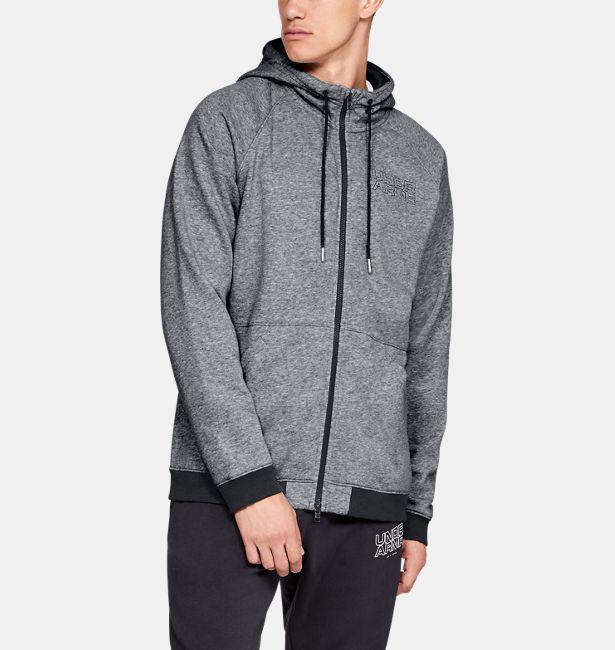 26462a75c9 Men's UA Baseline Fleece Full Zip Hoodie|Under Armour HK