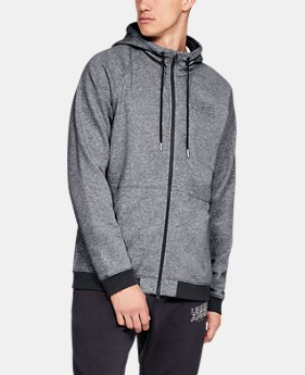 New Arrival Men's UA Baseline Fleece Full Zip Hoodie  1  Color Available $70