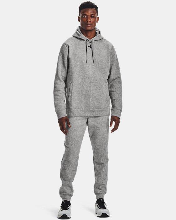 Men's UA Hustle Fleece Joggers, Gray, pdpMainDesktop image number 1