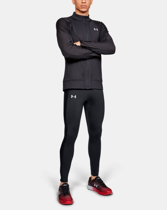 Men's ColdGear® Run Tights, Black, pdpMainDesktop image number 1