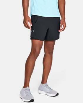 "New Arrival Men's UA Speedpocket Linerless 6"" Shorts FREE U.S. SHIPPING 5  Colors Available $45"