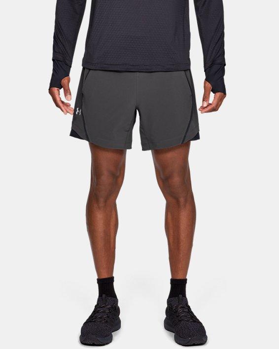 Short sans doublure UA Speedpocket 15cm pour homme, Gray, pdpMainDesktop image number 0