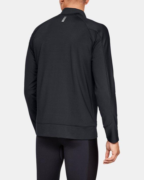 Men's ColdGear® Run Knit Jacket, Black, pdpMainDesktop image number 2