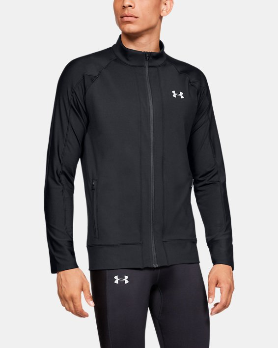 Men's ColdGear® Run Knit Jacket, Black, pdpMainDesktop image number 0