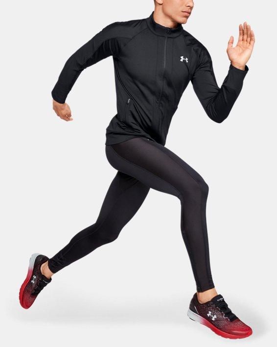 Men's ColdGear® Run Knit Jacket, Black, pdpMainDesktop image number 1
