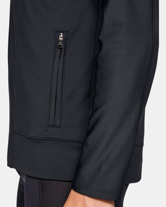 Men's ColdGear® Run Knit Jacket, Black, pdpMainDesktop image number 5