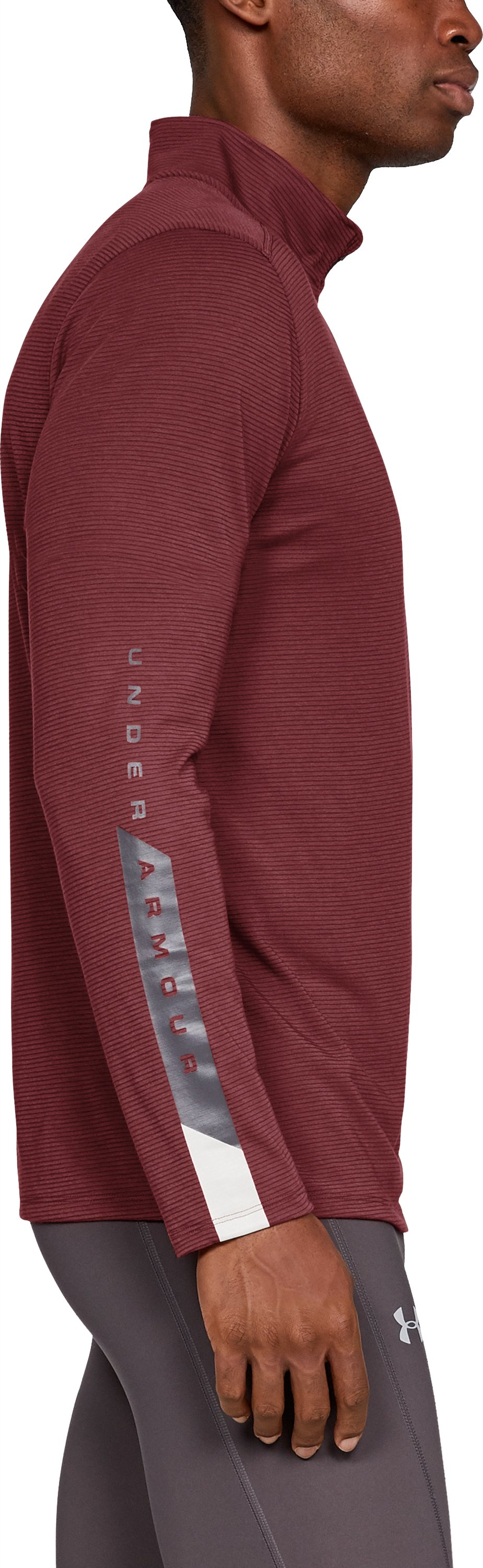 Men's UA Streaker Novelty ¼ Zip, Brick Red,