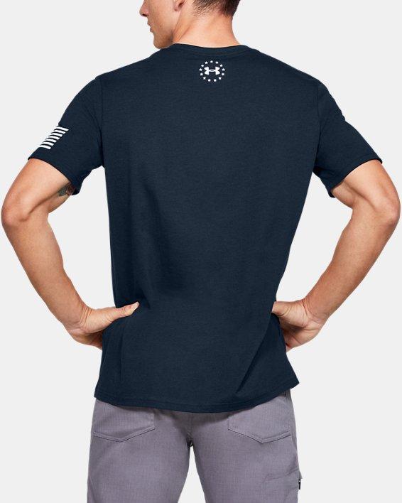 Men's UA Freedom Logo Short Sleeve, Navy, pdpMainDesktop image number 2