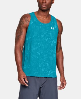 Men's UA Microthread Streaker Singlet  1  Color Available $35