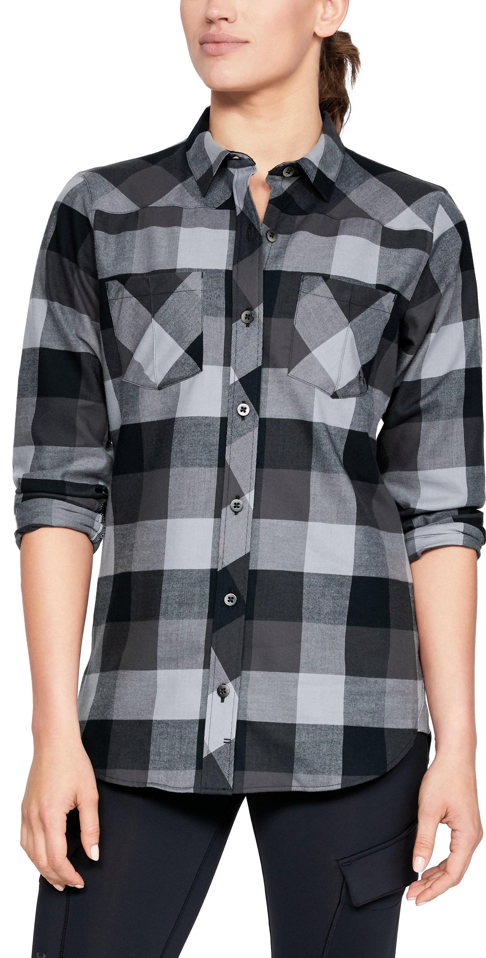 Women's UA Tradesman Flannel, Black
