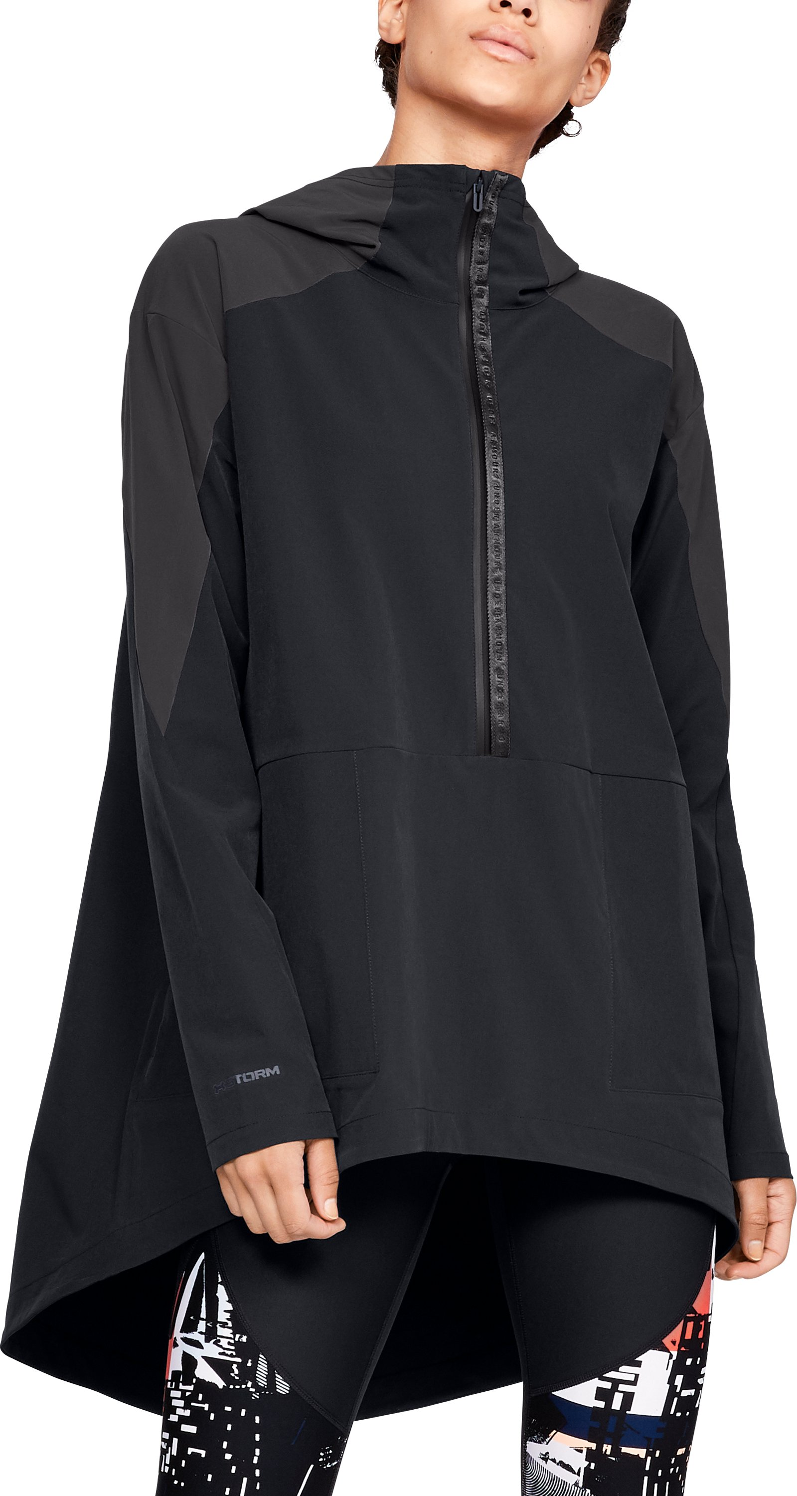 Women's UA Unstoppable Woven Anorak Jacket, Black ,