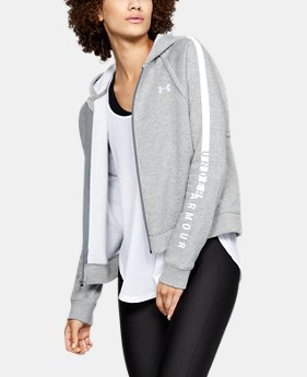 Women's UA Rival Fleece Full Zip Hoodie  1  Color Available $70