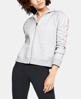 Women's UA Rival Fleece Full Zip Hoodie  6  Colors Available $55