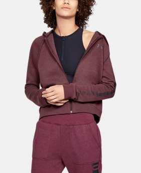 Women's UA Rival Fleece Full Zip Hoodie  1  Color Available $63.7 to $70