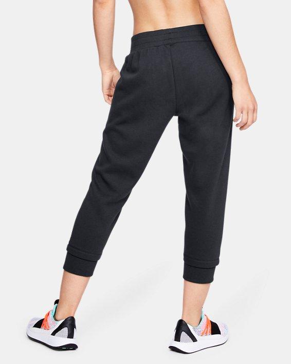 Women's UA Rival Fleece Crop, Black, pdpMainDesktop image number 2