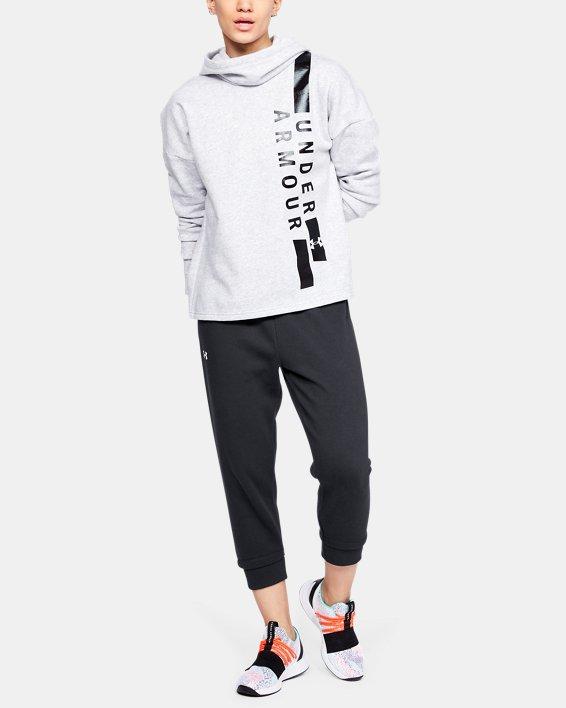 Women's UA Rival Fleece Crop, Black, pdpMainDesktop image number 1