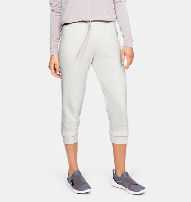 90b6e84fef Women's UA Rival Fleece Crop Pants|Under Armour HK