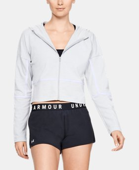 New Arrival Women's UA Lighter Longer Full Zip Hoodie FREE U.S. SHIPPING 1  Color Available $55