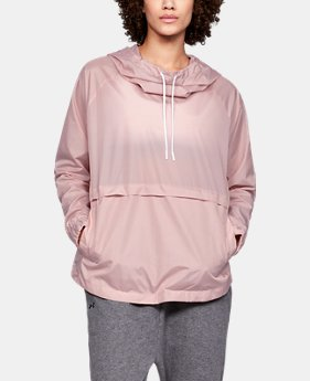 Women's UA Storm Iridescent Woven Hoodie  1  Color Available $50