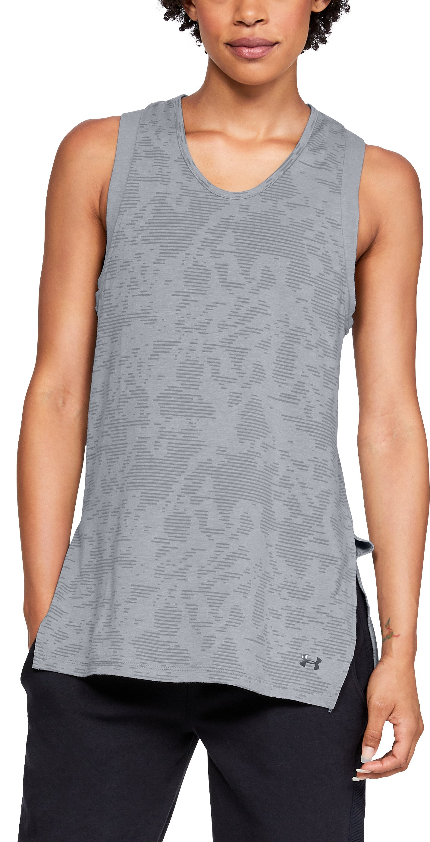 Women's UA Essentials Tunic, STEEL MEDIUM HEATHER