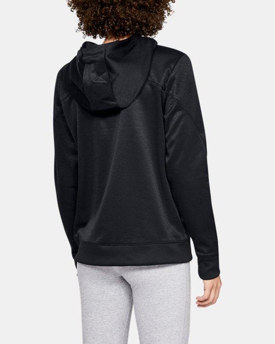 Women's Armour Fleece® Big Logo Hoodie, Black, pdpMainDesktop image number 2