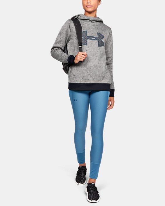 Women's Armour Fleece® Big Logo Hoodie, Black, pdpMainDesktop image number 1