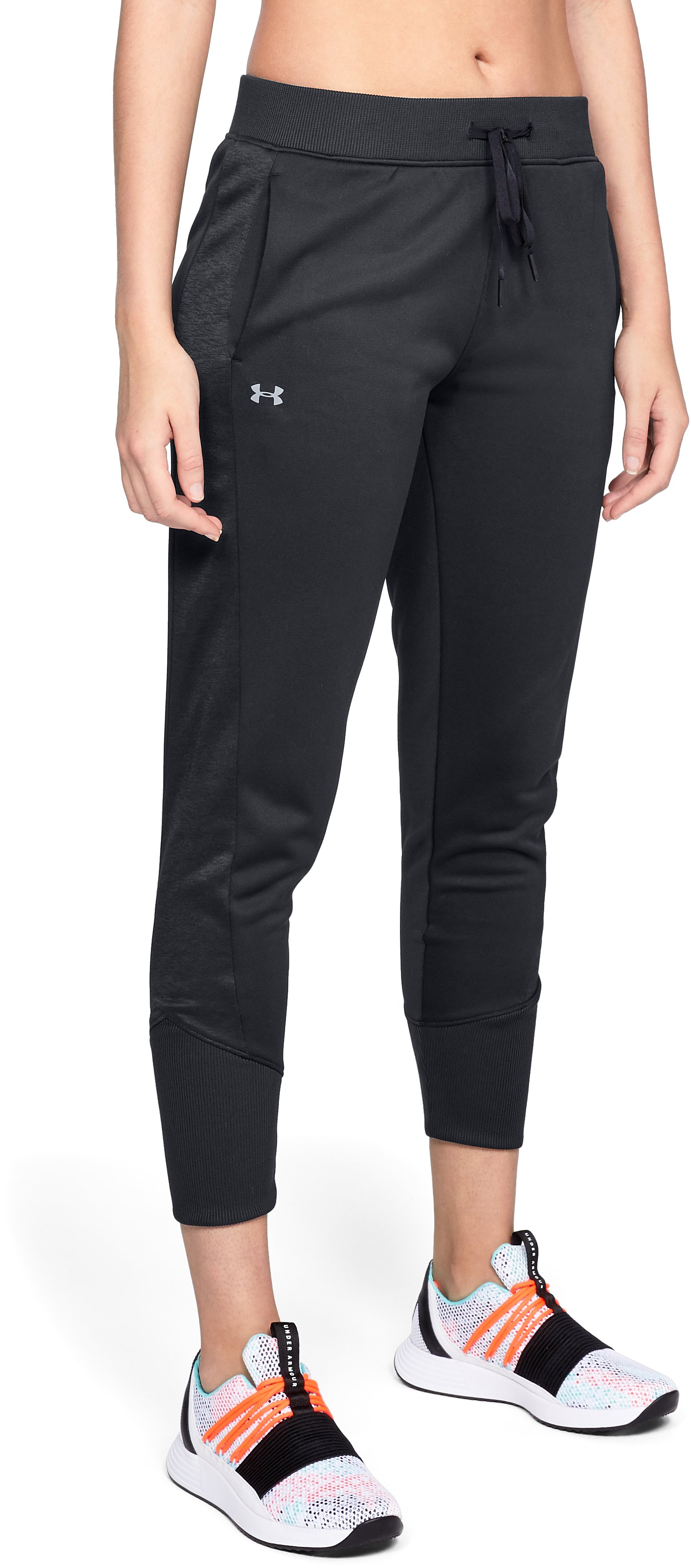 Women's Armour Fleece® Pants, Black ,