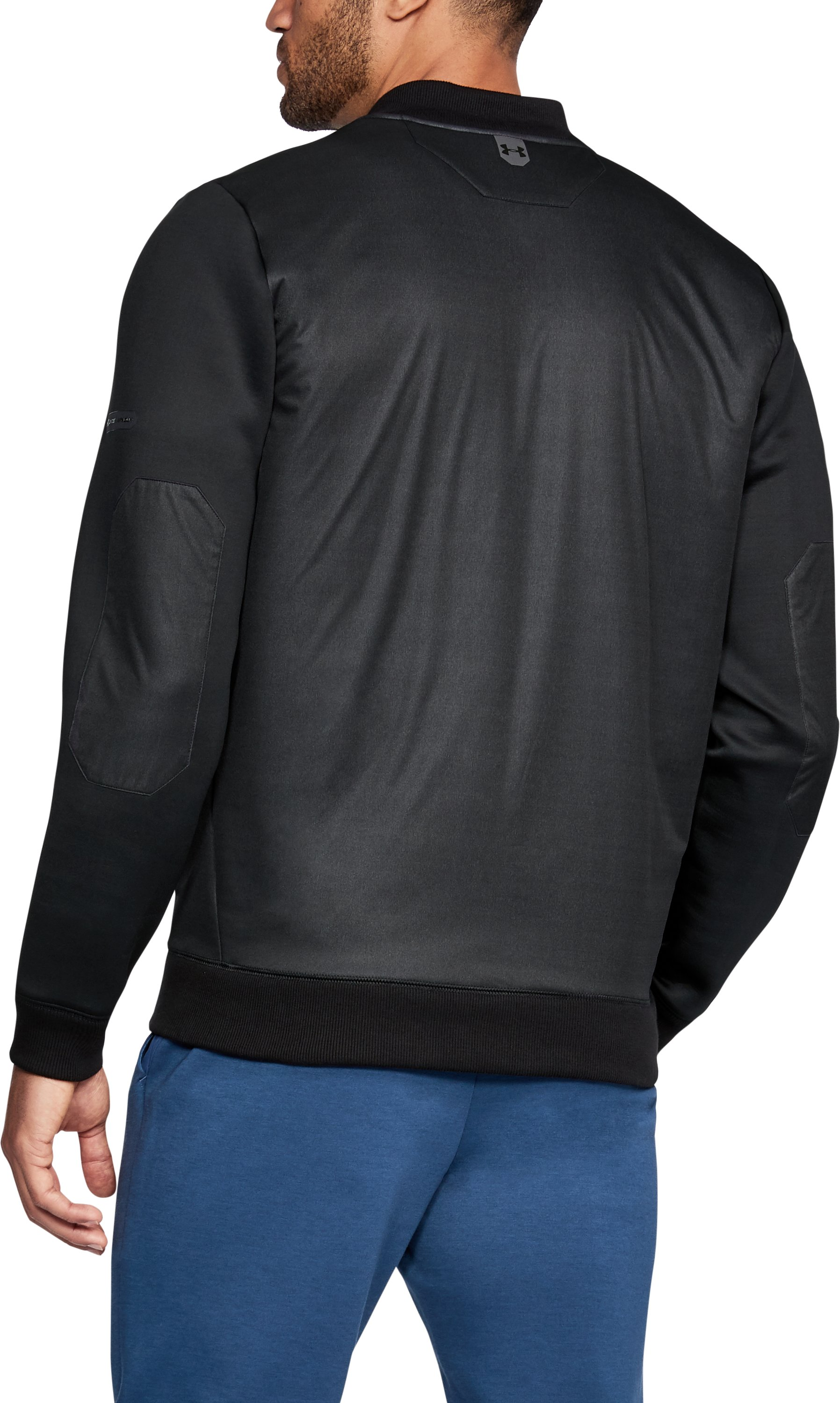 Men's UA Unstoppable GORE® WINDSTOPPER® ½ Zip, Black , undefined