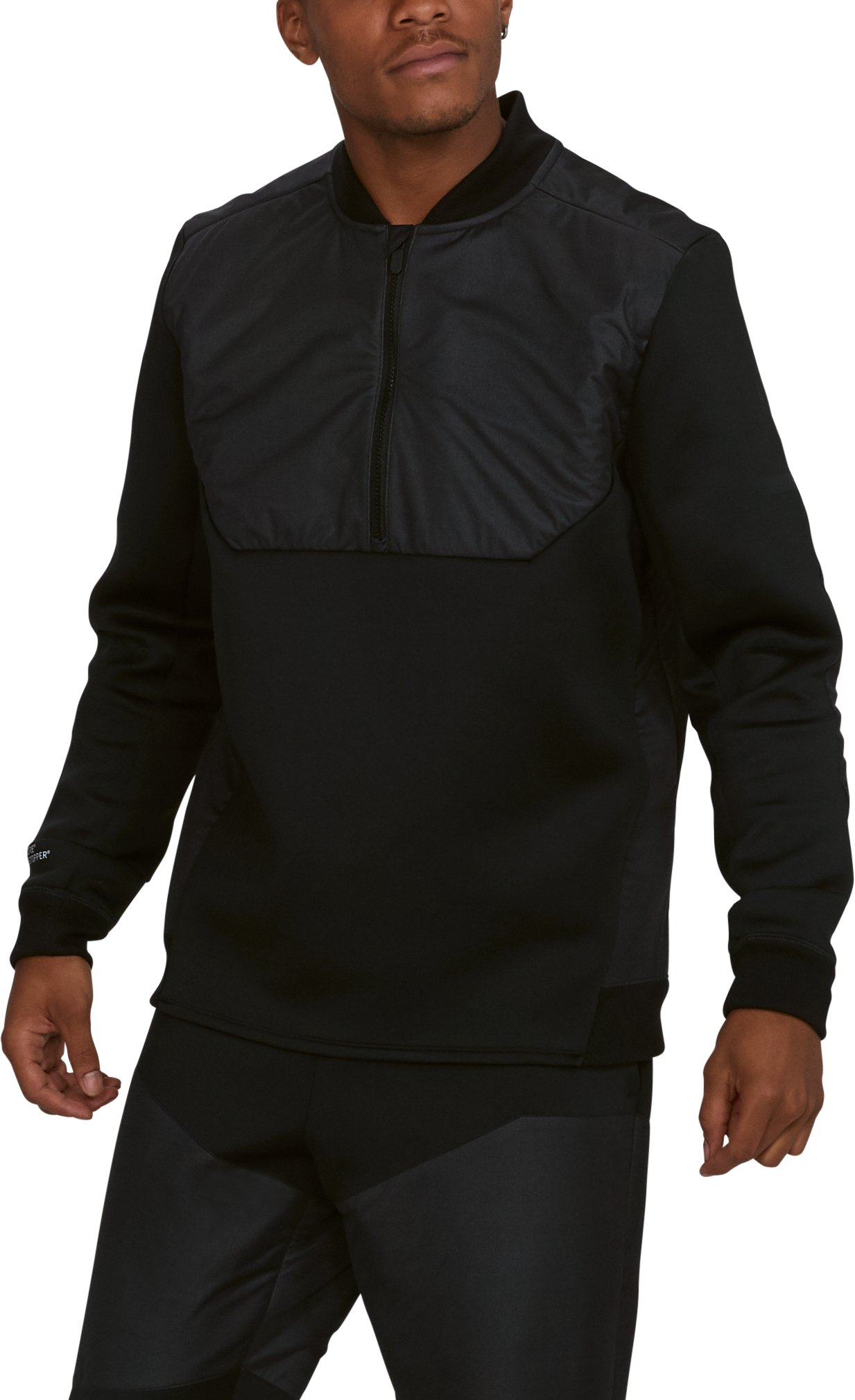 Men's UA Unstoppable GORE® WINDSTOPPER® ½ Zip, Black ,