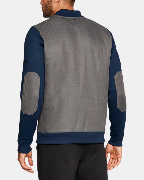Men's UA Unstoppable GORE® WINDSTOPPER® ½ Zip, Blue, pdpMainDesktop image number 2
