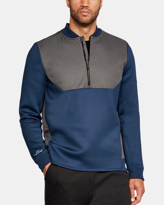 Men's UA Unstoppable GORE® WINDSTOPPER® ½ Zip, Blue, pdpMainDesktop image number 0