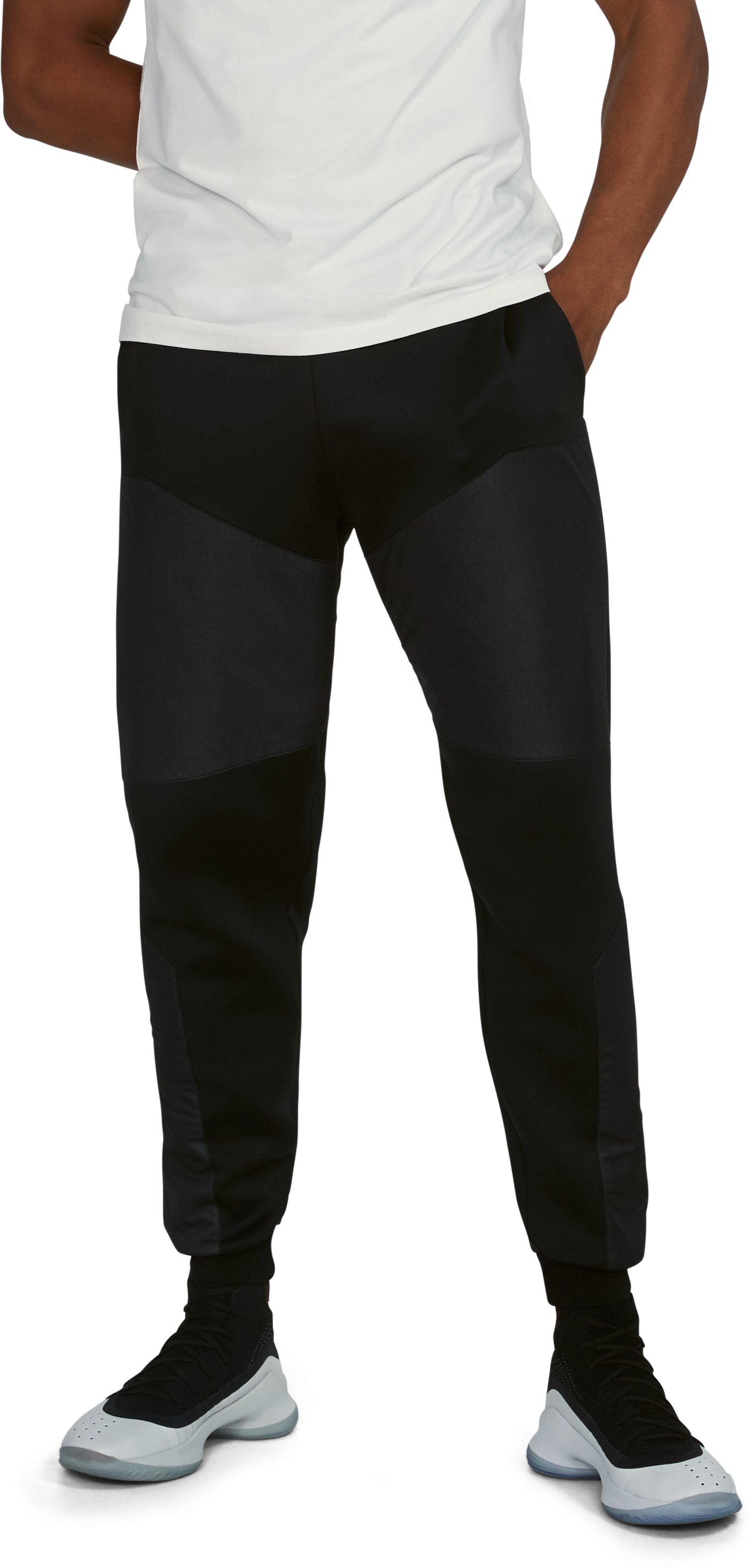 Men's UA Unstoppable GORE® WINDSTOPPER® Tapered Knit Pants, Black , undefined