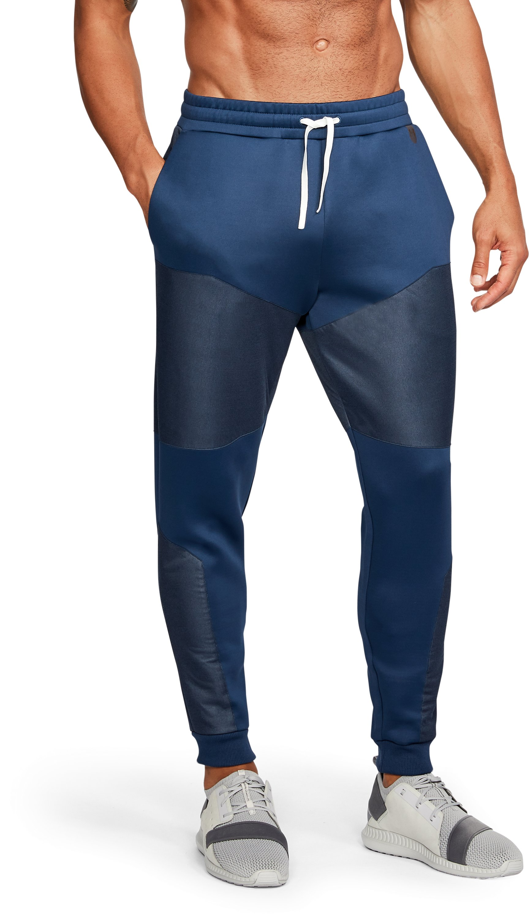 Men's UA Unstoppable GORE® WINDSTOPPER® Tapered Knit Pants, NIGHTTIME BLUE