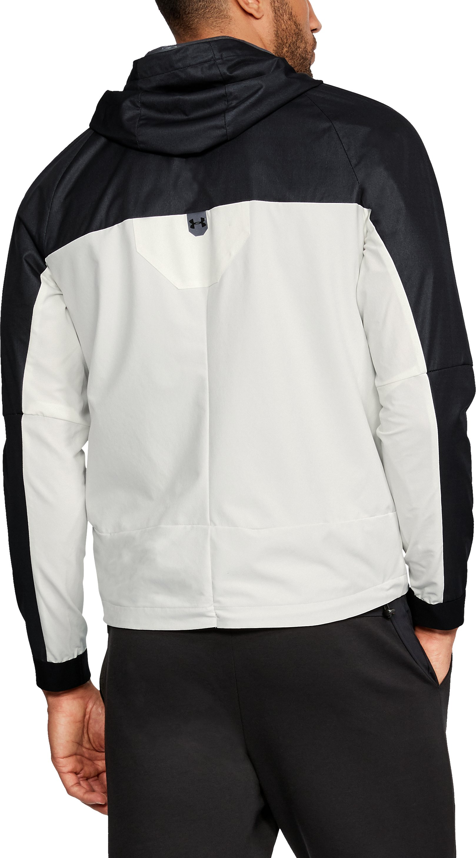 Men's UA Unstoppable GORE® WINDSTOPPER® ½ Zip Windbreaker, Black ,