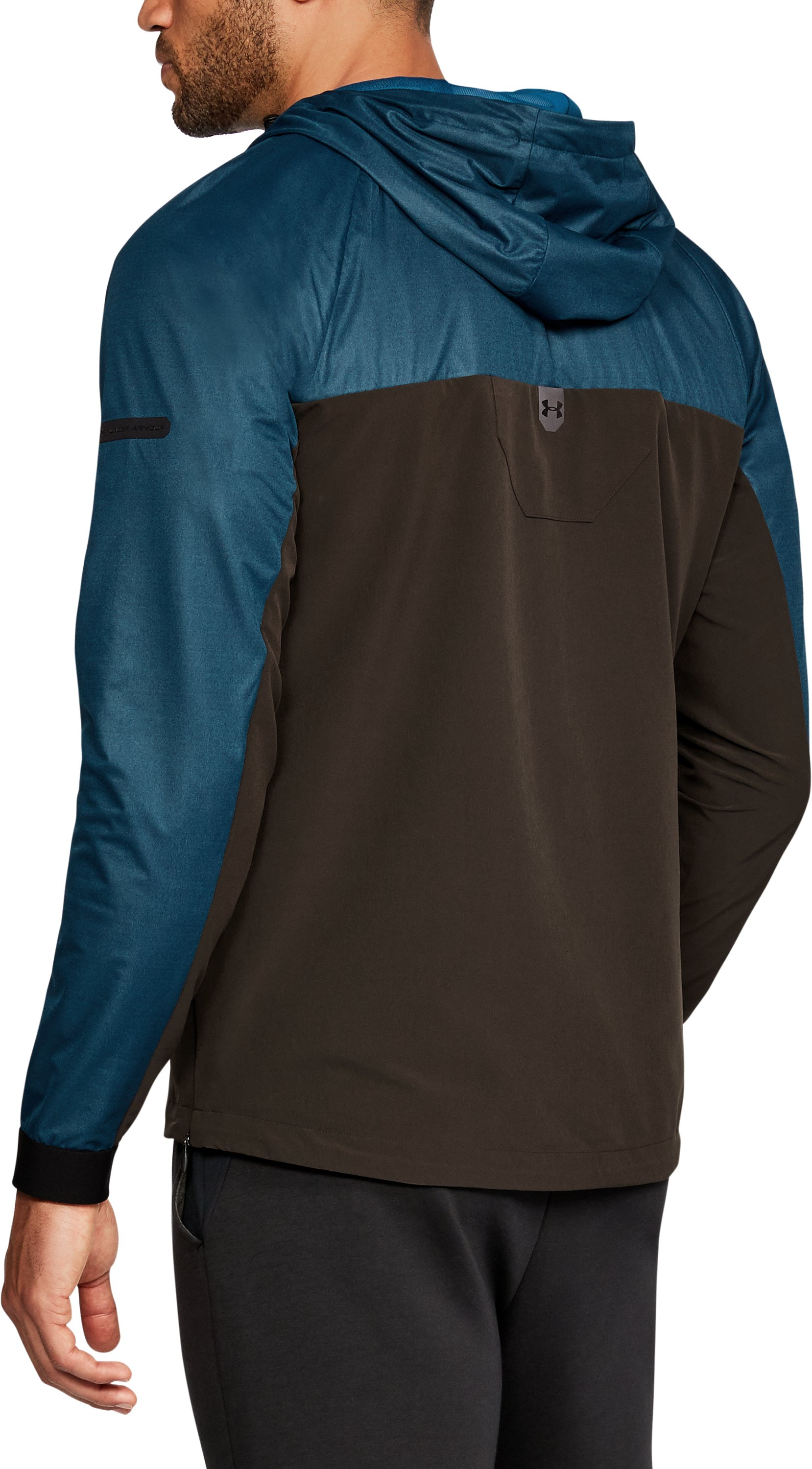 Men's UA Unstoppable GORE® WINDSTOPPER® ½ Zip Windbreaker, OCEAN BLUE