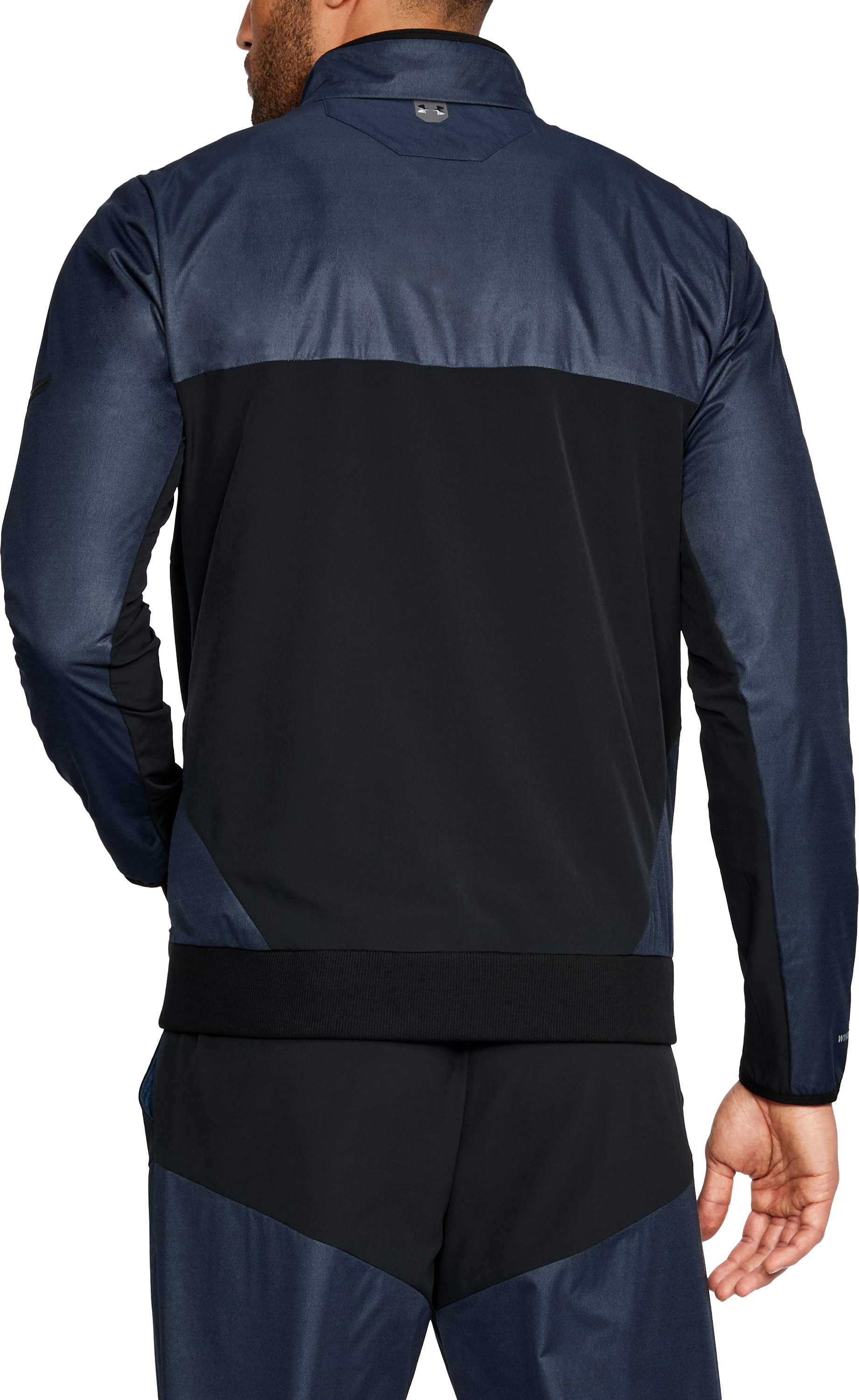 Men's UA Unstoppable GORE® WINDSTOPPER®  Wind Jacket, NIGHTTIME BLUE,