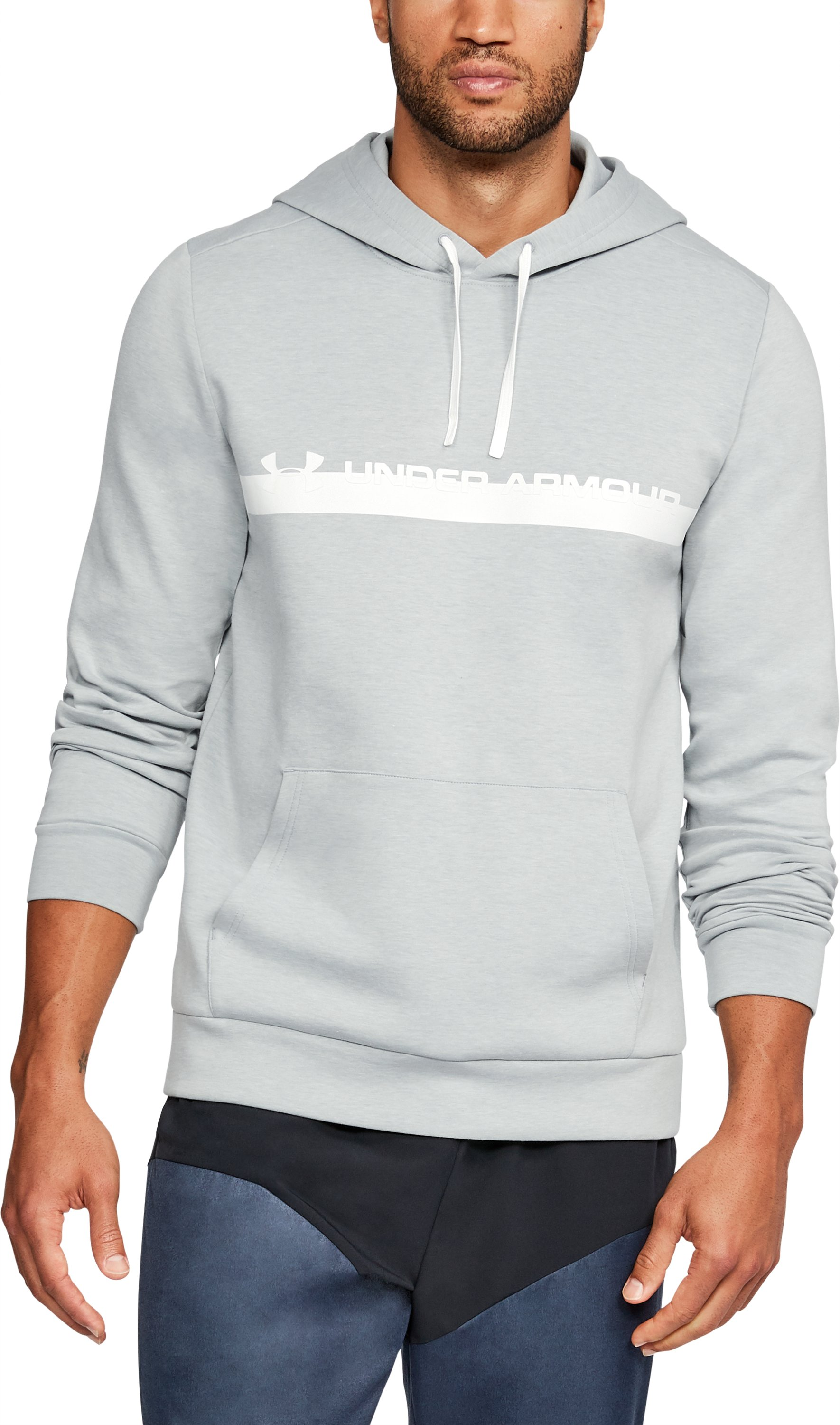Men's UA Unstoppable Knit Hoodie, True Gray Heather