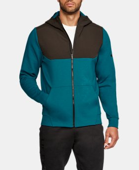 New Arrival  Men's UA Unstoppable Knit Full Zip Hoodie  1 Color $74.99
